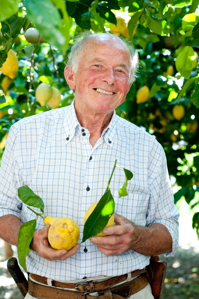 Amalfi lemon producer, Luigi Aceto, Susan Wright Photographer