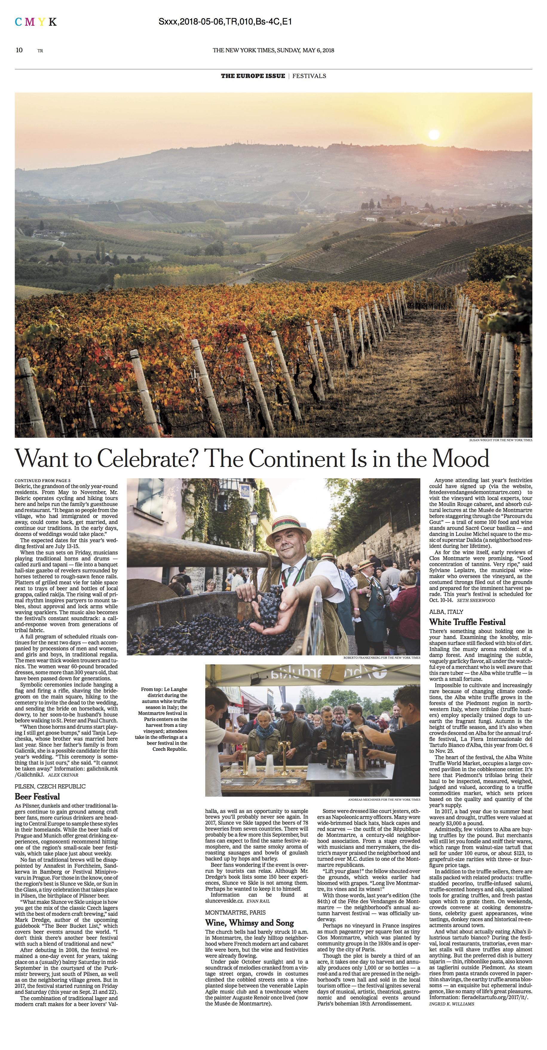Susan Wright Photographer - European Festivals NYTimes